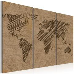 Artgeist Wandbild - Notizen aus der Welt - Triptychon