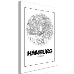 Artgeist Wandbild - Retro Hamburg (1 Part) Vertical