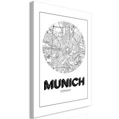Artgeist Wandbild - Retro Munich (1 Part) Vertical