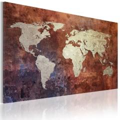 Artgeist Wandbild - Rostfarbene Weltkarte