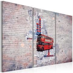 Artgeist Wandbild - Rund um Großbritannien mit dem Routemaster - Triptychon