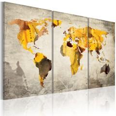 Artgeist Wandbild - Sonnige Kontinente - Triptychon