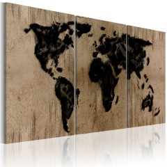 Artgeist Wandbild - Tintenschwarze Weltkarte