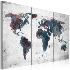 Artgeist Wandbild - Unentdeckte Kontinente - Triptychon