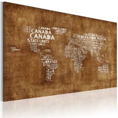 Artgeist Wandbild - Verlorene Landkarte