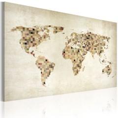 Artgeist Wandbild - Welt in beigen Farbtönen