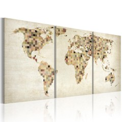 Artgeist Wandbild - Weltkarte - Quadrate