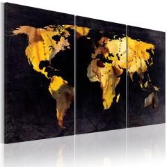 Artgeist Wandbild - Weltkarte - Treibsand