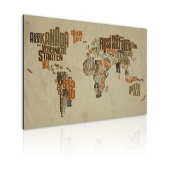 Artgeist Wandbild - Weltkarte (in deutscher Sprache)