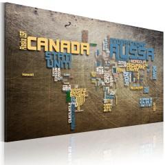 Artgeist Wandbild - Weltkarte (in italienischer Sprache)