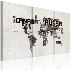 Artgeist Wandbild - What a wonderful World - Triptychon