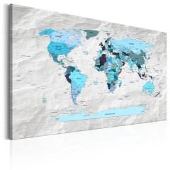Artgeist Wandbild - World Map: Blue Pilgrimages