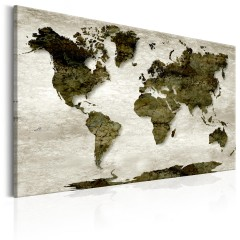 Artgeist Wandbild - World Map: Green Planet