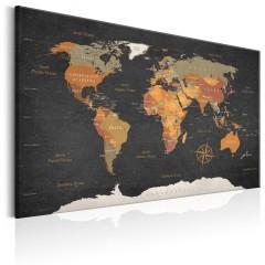 Artgeist Wandbild - World Map: Secrets of the Earth