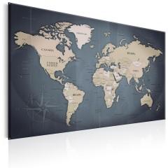Artgeist Wandbild - World Map: Shades of Grey