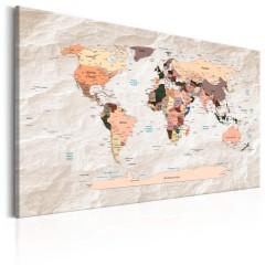 Artgeist Wandbild - World Map: Stony Oceans