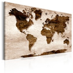 Artgeist Wandbild - World Map: The Brown Earth