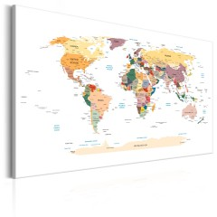 Artgeist Wandbild - World Map: Travel Around the World