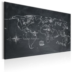 Artgeist Wandbild - World Map: Travel broadens the Mind
