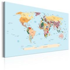 Artgeist Wandbild - World Map: Travel with Me