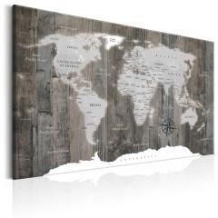 Artgeist Wandbild - World Map: Wooden World