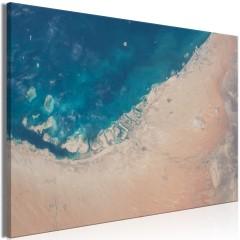 Artgeist Wandbild - Dubai from the Satellite (1 Part) Wide
