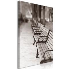 Artgeist Wandbild - Park Benches (1 Part) Vertical