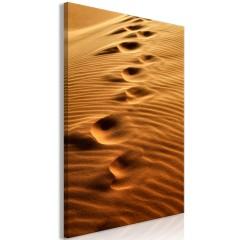Artgeist Wandbild - Traces on the Sand (1 Part) Vertical