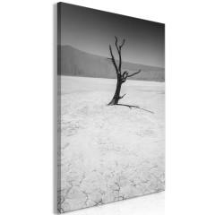 Artgeist Wandbild - Tree in the Desert (1 Part) Vertical