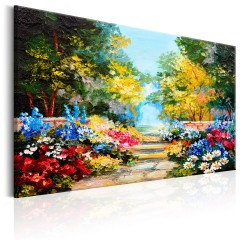 Artgeist Wandbild - The Flowers Alley