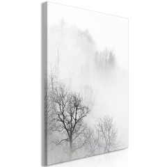 Artgeist Wandbild - Trees In The Fog (1 Part) Vertical
