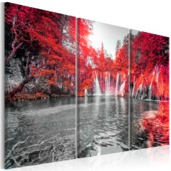 Artgeist Wandbild - Waterfalls of Ruby Forest