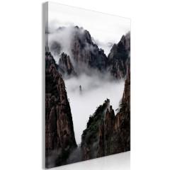 Artgeist Wandbild - Fog Over Huang Shan (1 Part) Vertical