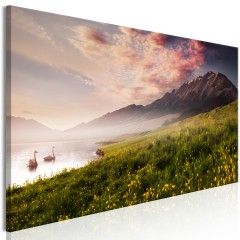 Artgeist Wandbild - Sayram Lake (1 Part) Narrow