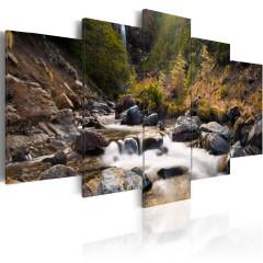Artgeist Wandbild - Wasserwall inmitten wilder Natur