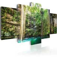 Artgeist Wandbild - Waterfall of Trees