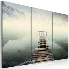 Artgeist Wandbild - Weg ohne Wiederkehr - Triptychon