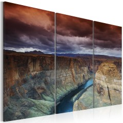 Artgeist Wandbild - Wolken über dem Grand Canion Colorado