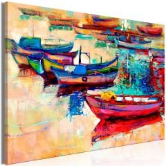 Artgeist Wandbild - Boats (1 Part) Wide