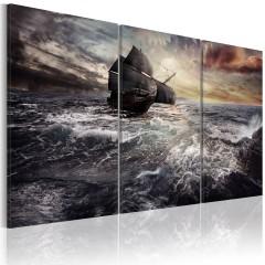Artgeist Wandbild - Einsames Schiff auf hoher See