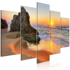 Artgeist Wandbild - Meeting at Sunset (5 Parts) Wide