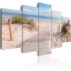 Artgeist Wandbild - Morning on the beach