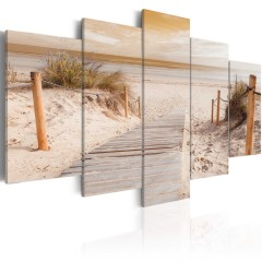 Artgeist Wandbild - Morning on the beach - sepia