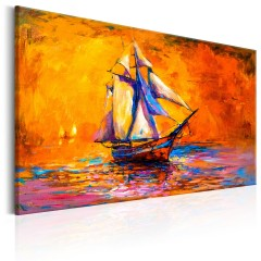 Artgeist Wandbild - Ocean of the Setting Sun