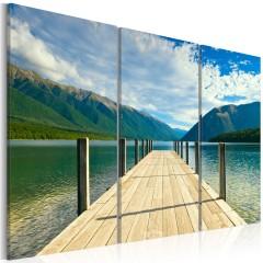 Artgeist Wandbild - Seebrücke
