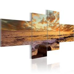 Artgeist Wandbild - Sonnenuntergang am Meer