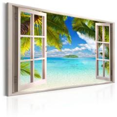 Artgeist Wandbild - Window: Sea View