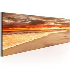 Artgeist Wandbild - Beach: Beatiful Sunset