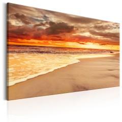 Artgeist Wandbild - Beach: Beatiful Sunset II