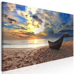 Artgeist Wandbild - Boat on the Beach (1 Part) Narrow